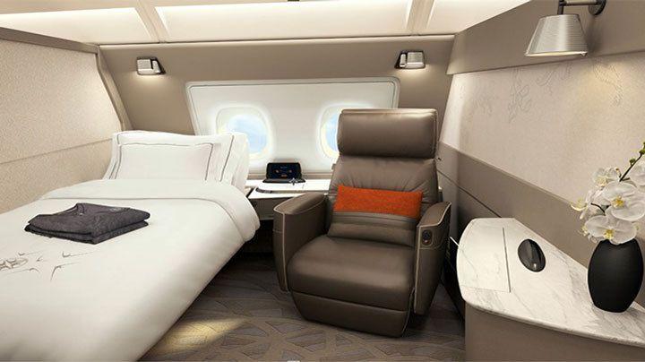 シンガポール航空A380のスイートクラス